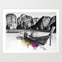 abstract tide Art Print