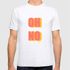 OH NO! Mens Fitted Tee SMALL Ash Grey