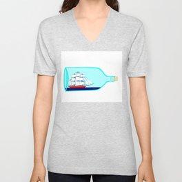 A Ship in a Bottle Unisex V-Neck