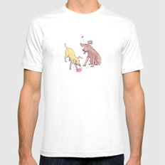 Puppy Love MEDIUM Mens Fitted Tee White