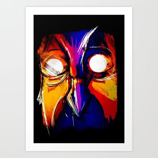 Molten Fury Art Print