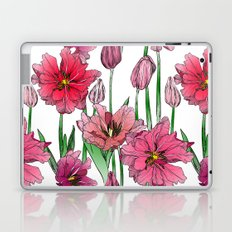 Pink Hibiscus Pattern Laptop & iPad Skin