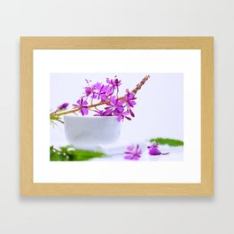 Natural épilobe herbes Framed Art Print