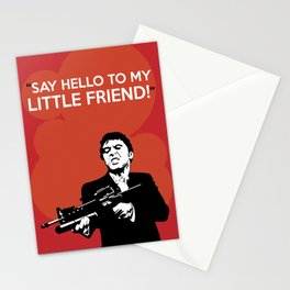 Scarface Say Hello to My Little Friend Stationery Cards