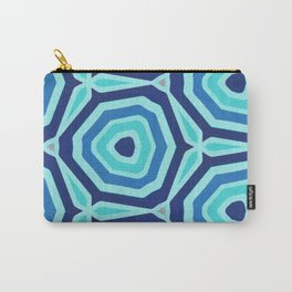 Bet on Blue - Abstract Circles Carry-All Pouch