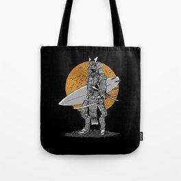 Samurai Surfer Tote Bag