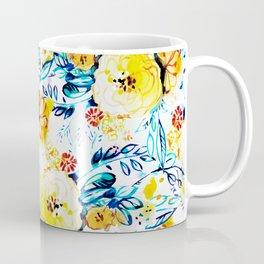 Yellow painted flowers Coffee Mug