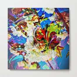 Flower magic - Abstract in Perfection Metal Print