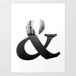And so Art Print