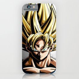 dbz son goku saiyan iPhone Case