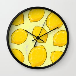 LEMONY ZEST Wall Clock