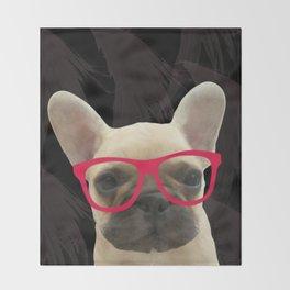 Smart Frenchie Throw Blanket
