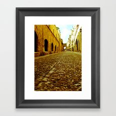 Medieval Streets Framed Art Print