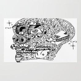 Gamblin Skull Rug