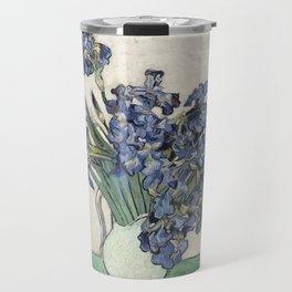 Vase with Irises Travel Mug