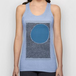 Abstract Blue Lake Unisex Tank Top