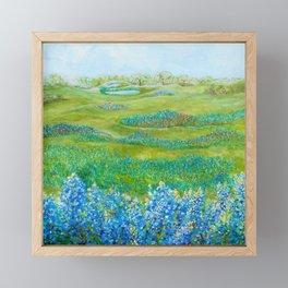 Bluebonnets Framed Mini Art Print