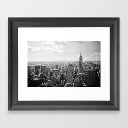 New York Abstract Print Framed Art Print