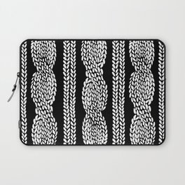 Cable Black Laptop Sleeve
