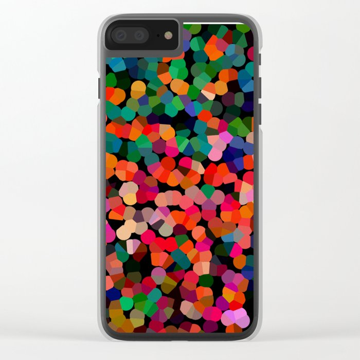 Abstract colors Clear iPhone Case