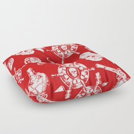 Red Pirate Pattern Floor Pillow