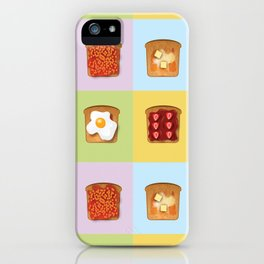 Toasty Toppings iPhone Case