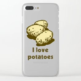 I Love Potatoes Quote Clear iPhone Case