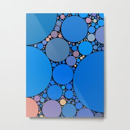 ariana redux: bright royal blue abstract ocean Metal Print