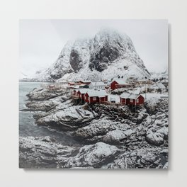 Mountain Village In Norway Metal Print
