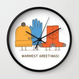 warmest greetings! Wall Clock
