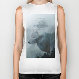 Wilderness Wolf & Poem Biker Tank