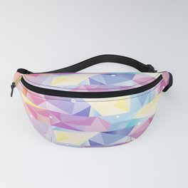 Colorful Geo/Triangles Pattern Fanny Pack