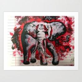 Elephants Never Forget Art Print
