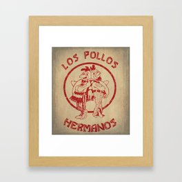 Los Pollos Hermanos vintage ( Breaking Bad ) Framed Art Print