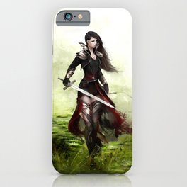 Lady knight - Warrior girl with sword concept art iPhone Case