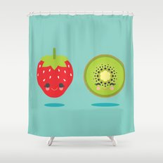 Strawberry Kiwi Shower Curtain