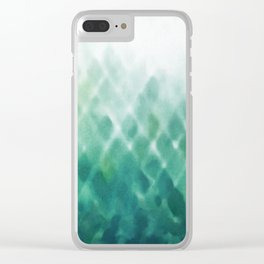 Diamond Fade in Teal Clear iPhone Case