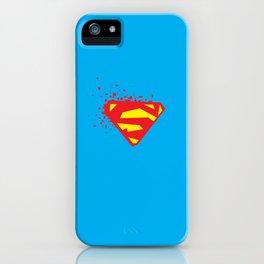 Square Heroes - man of steel iPhone Case