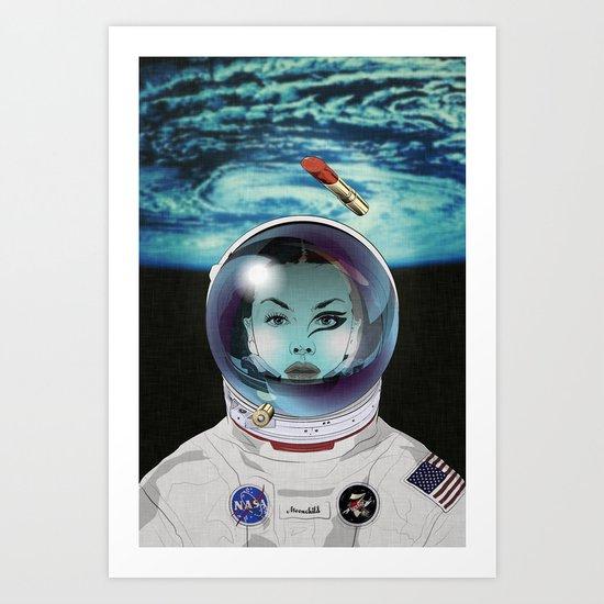 Miss Space Pilot Art Print