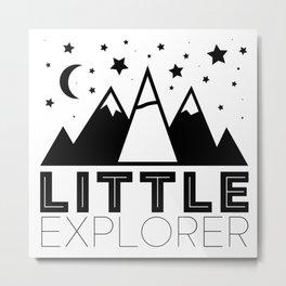 Little Explorer Metal Print