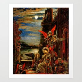 """Gustave Moreau """"St. Cecilia (The Angels Announcing her Coming Martyrdom)"""" Art Print"""