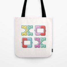 Color-Blocked XOXO Tote Bag