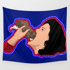 Diana eating a rat Wall Tapestry