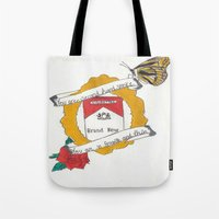 brand new Tote Bags featuring Brand New by Sarah Hinds