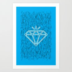 diamond cyan Art Print