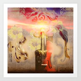 THE DAWN OF A FLOWER (The Sign of Life Collection) Art Print