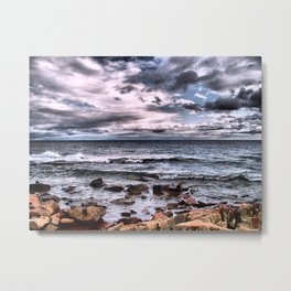 Superior Rocks and Shore Metal Print
