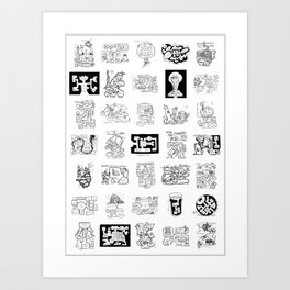 Thirty Five Dungeon Maps Art Print