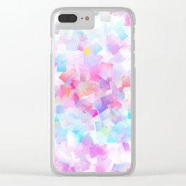 iDeal - Squared Pastel Clear iPhone Case