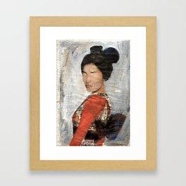 Geisha/Newspaper Serie Framed Art Print